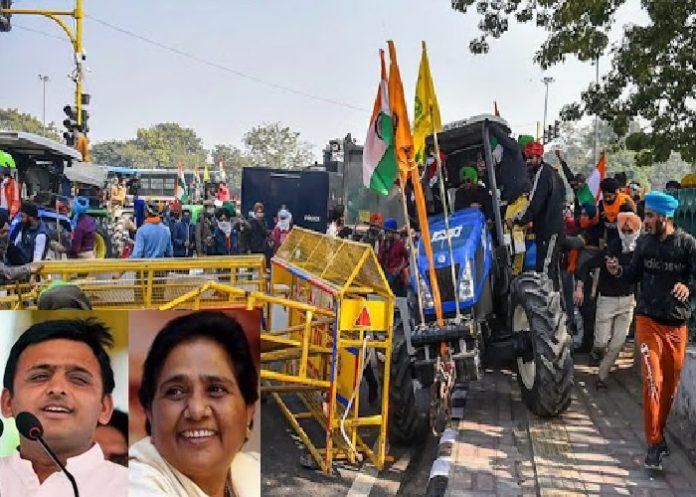किसान आंदोलन पर सियासत तेज़, अखिलेश और मायावती का ट्वीट वायरल